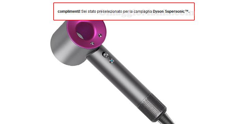 selezione tester Dyson Supersonic