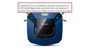 selezione tester robot aspirapolvere Philips Smart Pro Easy
