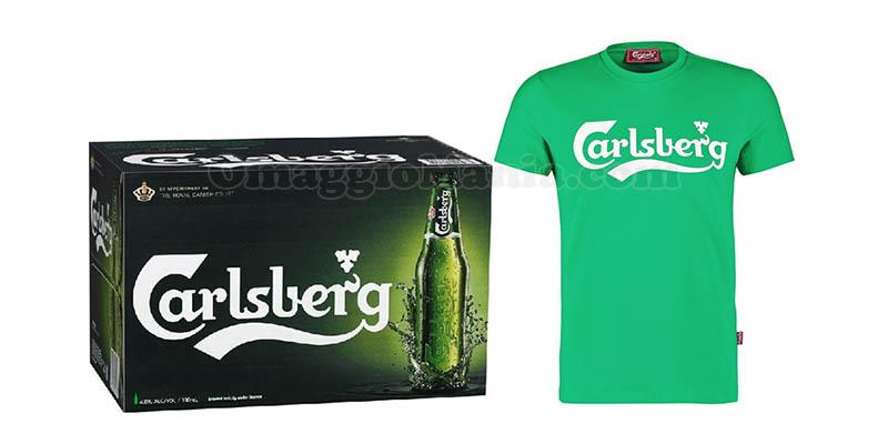 t-shirt e box birra Carlsberg