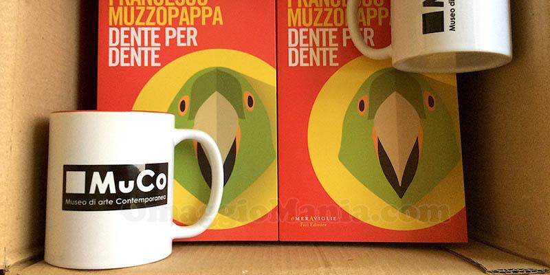 tazza Mu.Co. e libro Dente per dente Fazi Editore