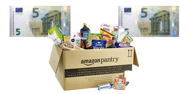 Amazon Pantry sconti 5 euro