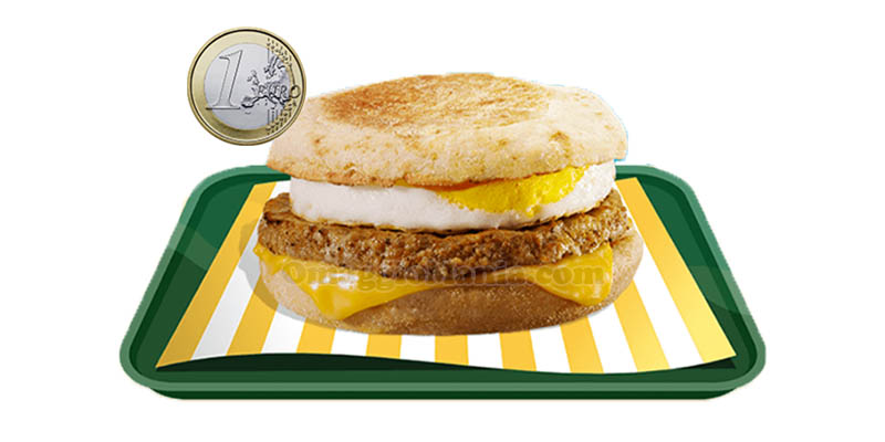 McMuffin Sausage&Egg a 1 euro