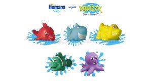 Squizzy Amici del bagnetto omaggio Humana Baby
