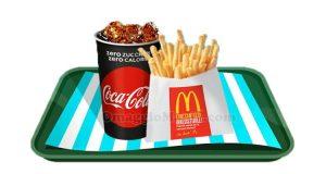 bibita piccola e patatine piccole McDonald's a 1,50€
