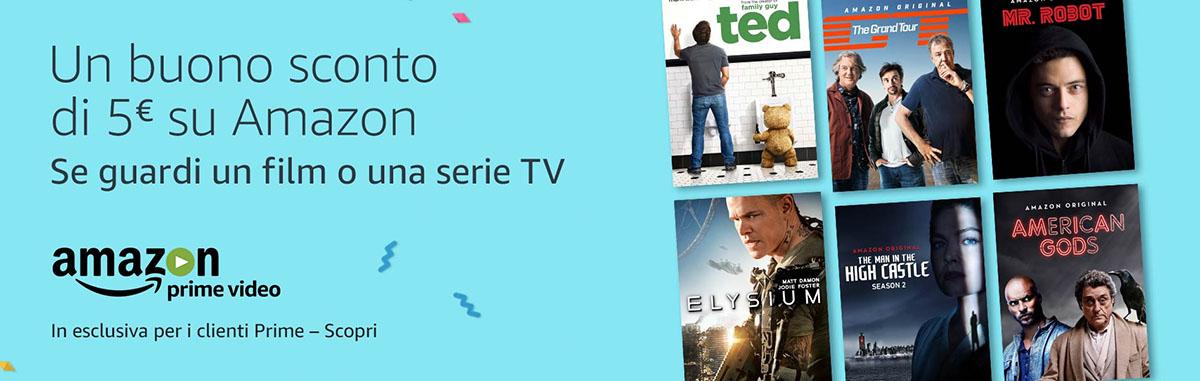 buono sconto Amazon con film o serie TV