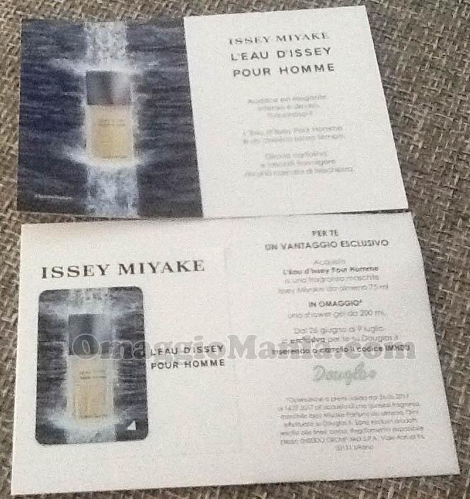 cartolina profumata profumo Issey Miyake L'Eau d'Issey Pour Homme