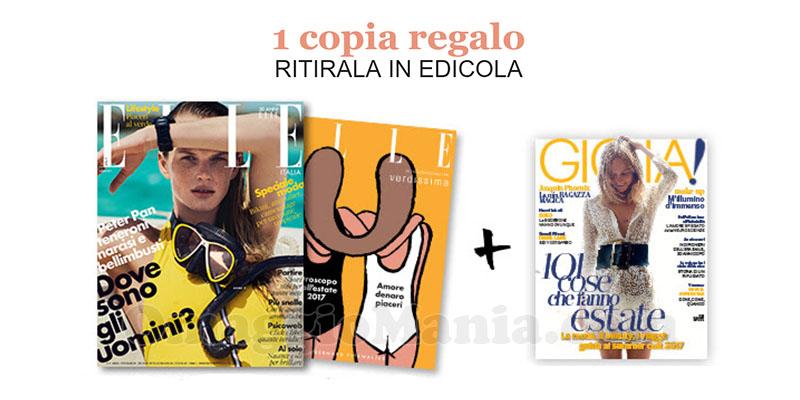 coupon omaggio Gioia 26 e Elle 7 2017