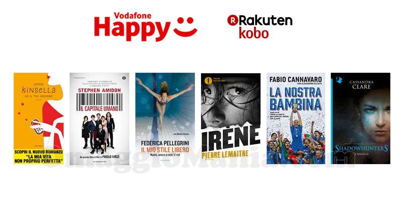 ebook Rakuten Kobo omaggio Vodafone Happy