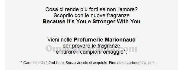 email campioni omaggio Emporio Armani Marionnaud