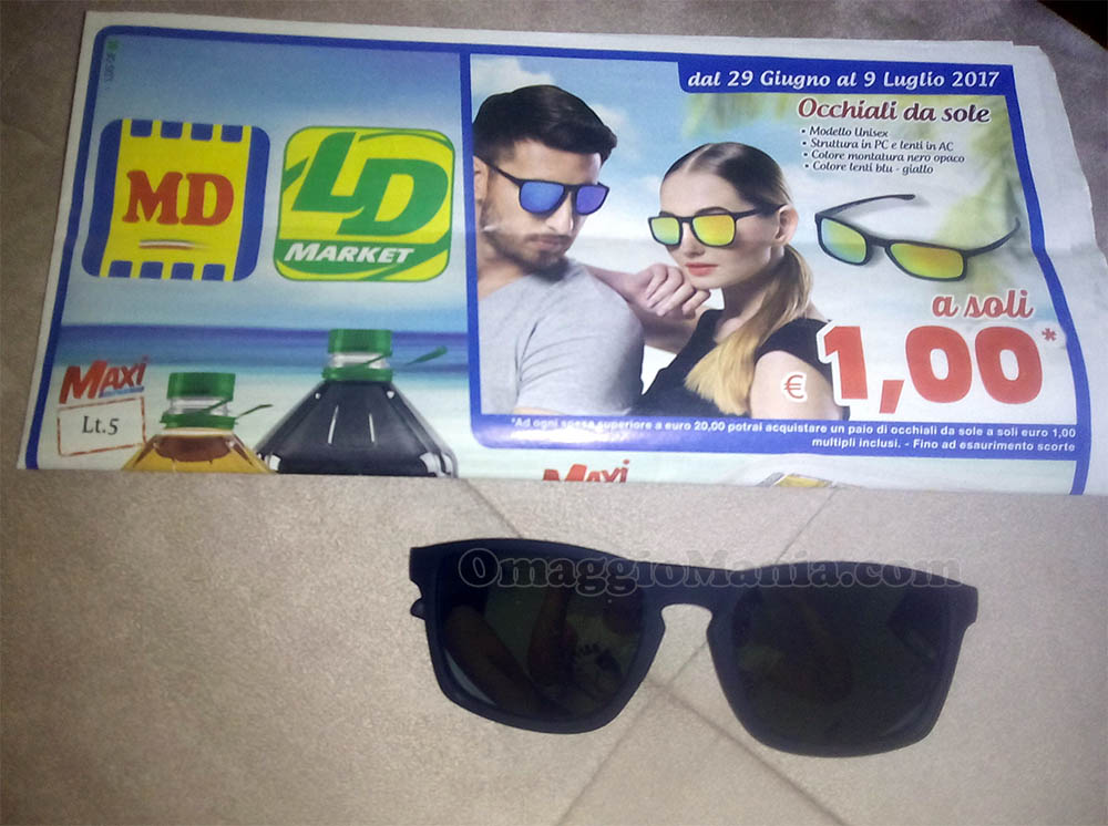 occhiali da sole 1 euro MD LD di Fede