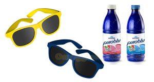occhiali da sole Parmalat Puro Blu omaggio