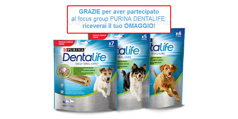 omaggi Dentalife Purina conferma