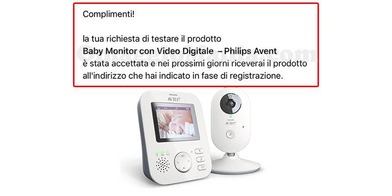 selezione tester baby monitor Philips Avent di Antonella