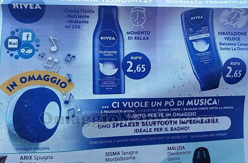 speaker bluetooth impermeabile Nivea