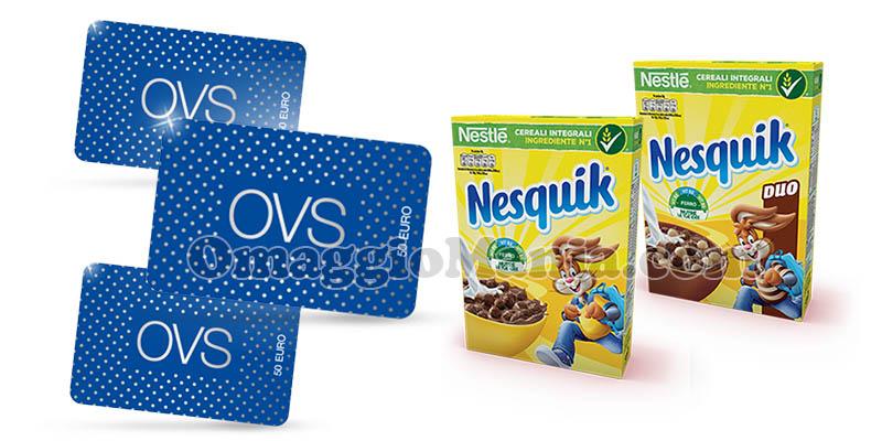 Concorso Nesquik Cereali Vinci le gift card OVS