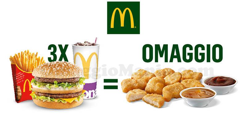 McDonald's in omaggio 9 Chicken McNuggets