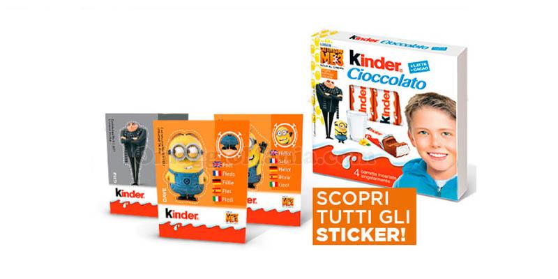 Stickers Cattivissimo Me 3 omaggio con Kinder Cioccolato
