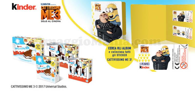 album sticker Cattivissimo Me 3 con Kinder