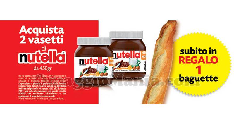 baguette in regalo con Nutella Bennet