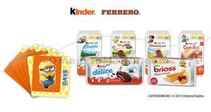 card stacca e attacca Cattivissimo Me 3 con Kinder e Ferrero