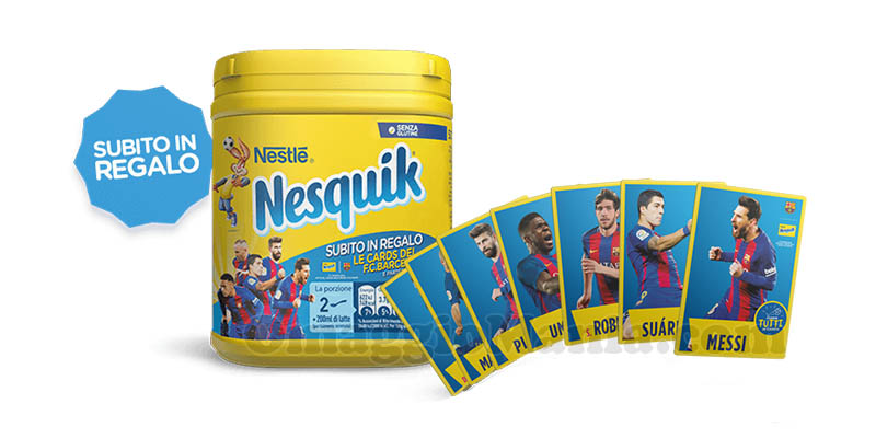 cards Panini FC Barcelona con Nesquik