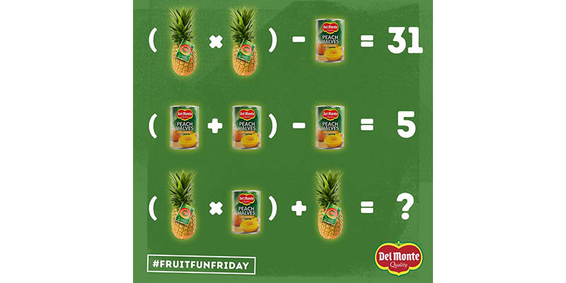 contest FruitFunFriday Del Monte 11 agosto 2017