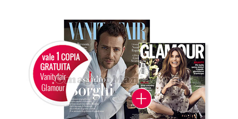 coupon Vanity Fair 33 e Glamour 302