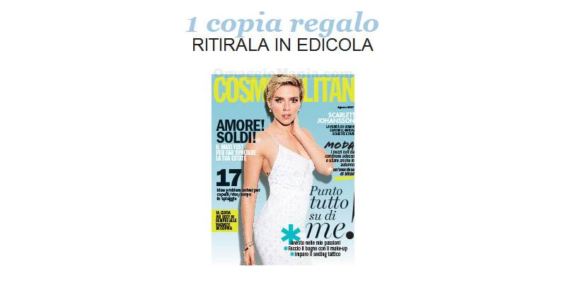 coupon copia omaggio Cosmopolitan 8 2017
