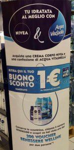 espositore Tu idratata al meglio con Nivea & Acqua Vitasnella
