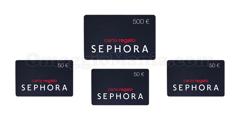 gift card Sephora 500€ 50€
