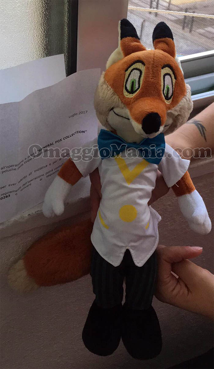 peluche volpe General Fox Collection