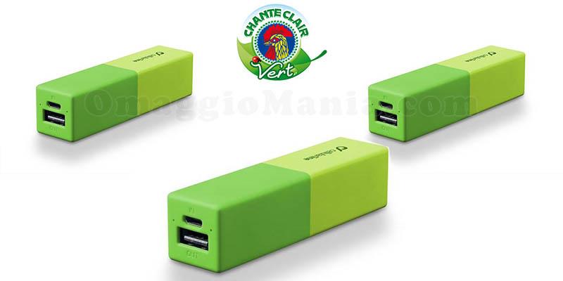 powerbank Cellularline con Chanteclair Vert