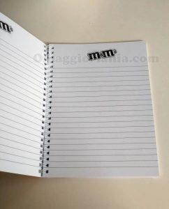 quaderno M&M's di Saretta 2
