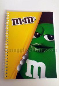 quaderno M&M's di Saretta
