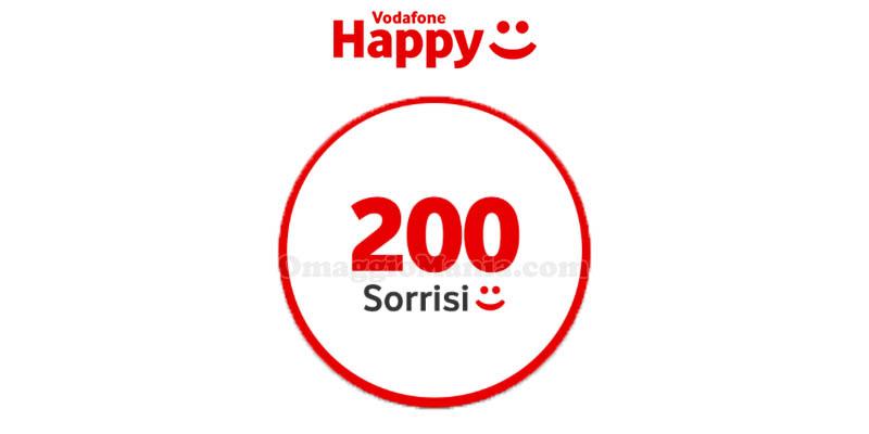regalo Vodafone Happy Friday 200 sorrisi