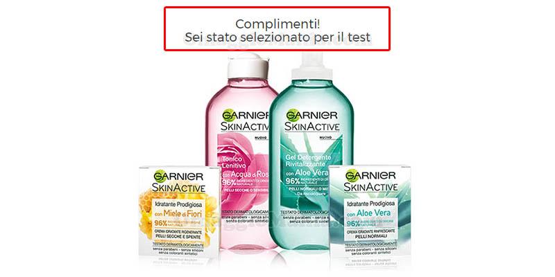 selezione tester Garnier SkinActive Gamma Naturali