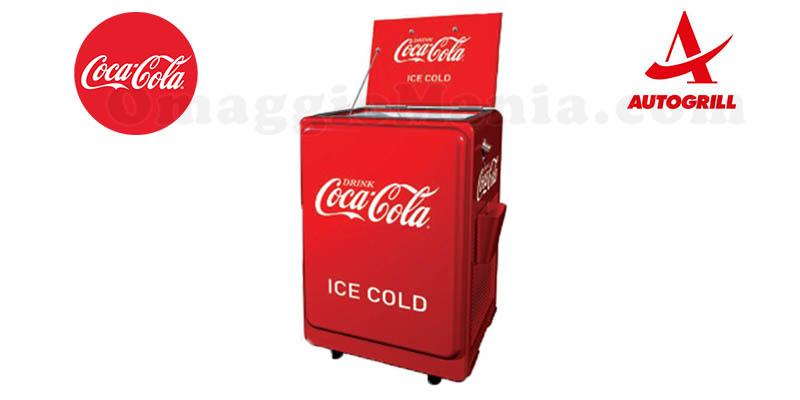 vinci una ghiacciaia Coca Cola da Autogrill