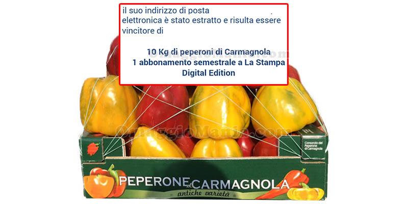 vincita 10Kg di peperoni di Carmagnola