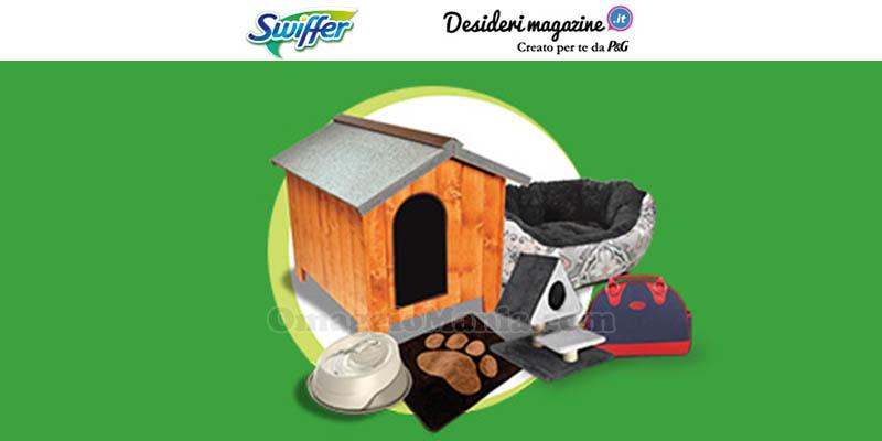 Con Swiffer puoi vincere un kit casa per il tuo animale