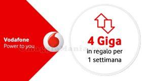 Vodafone Happy Friday 4 giga in regalo
