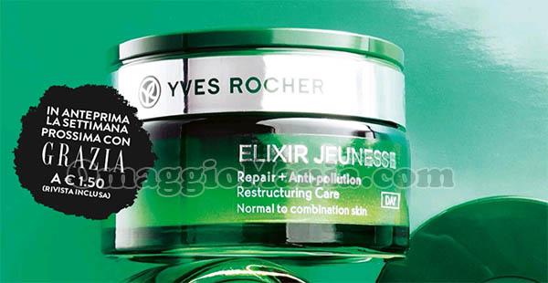 anteprima Grazia Yves Rocher Elixir Jeunesse Repair anti-pollution