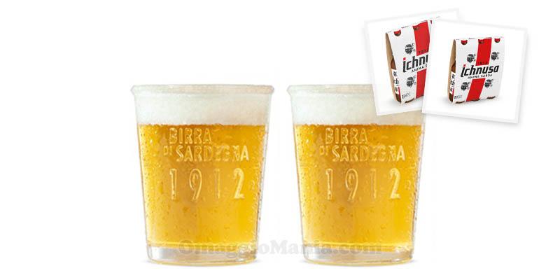 bicchieri Ichnusa Birra di Sardegna omaggio