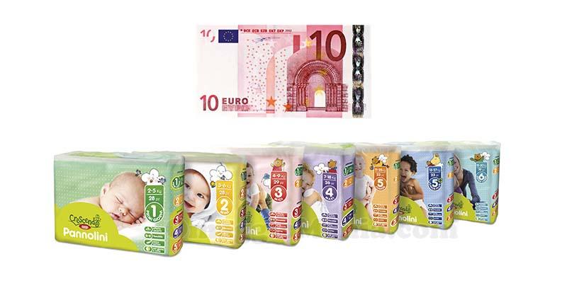 buono spesa con pannolini Crescendo Coop
