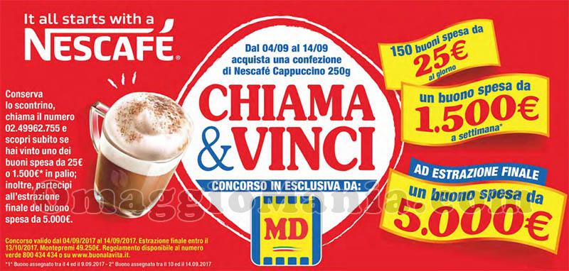 concorso Nescafé Cappuccino Chiama & Vinci MD