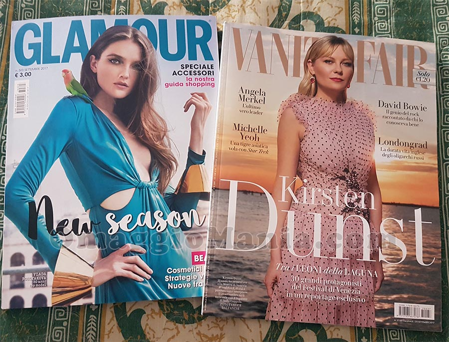 copie omaggio Vanity Fair n.37 e Glamour n.303 di Caterina