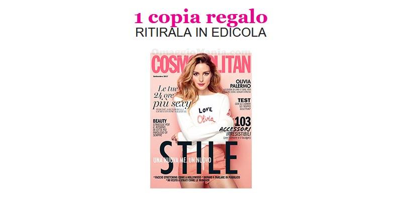 coupon copia omaggio Cosmopolitan 9 2017