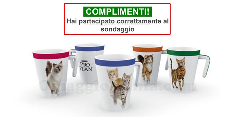 email conferma tazza Purina ProPlan