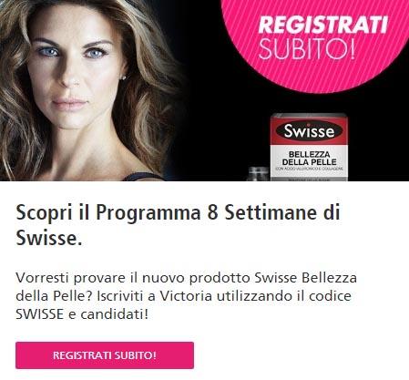 iscrizione gratuita Swisse Bellezza della Palle codice promozionale