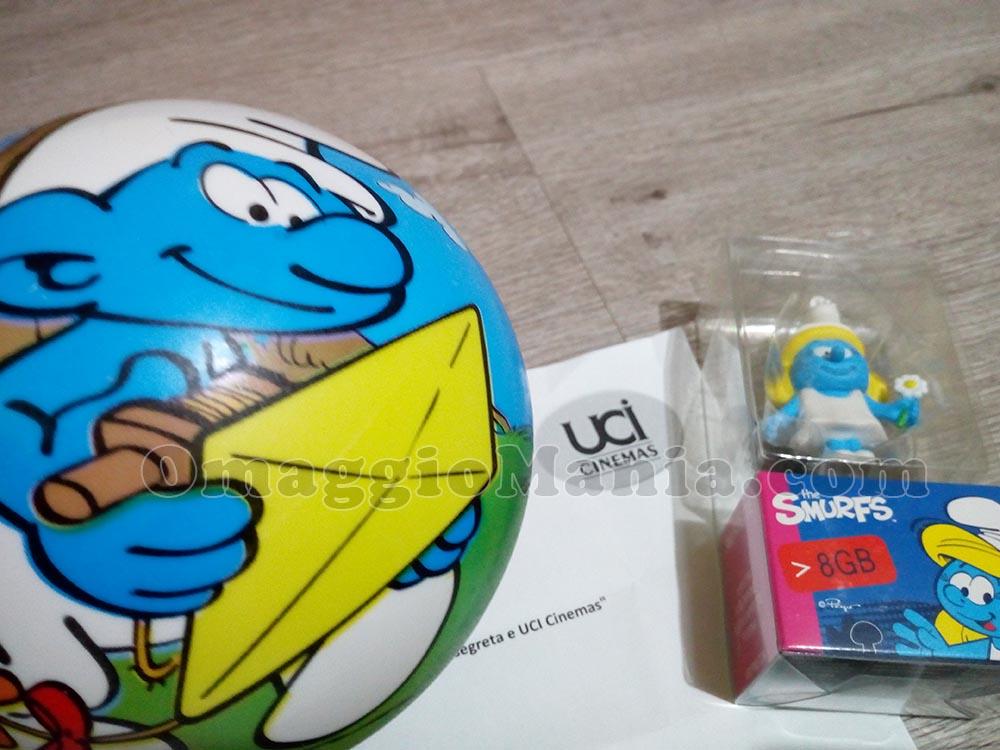 kit I Puffi di Claudia con chiavetta USB e pallone