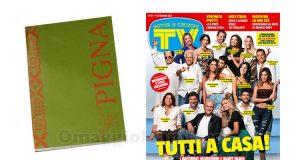 quaderno Pigna A4 omaggio con TV Sorrisi e Canzoni